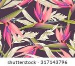 seamless tropical flower  plant ... | Shutterstock . vector #317143796