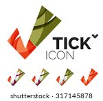 set of abstract ok and tick... | Shutterstock .eps vector #317145878