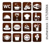big set of cafe and restaurant...   Shutterstock .eps vector #317150066