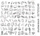 set of doodle icons. business... | Shutterstock .eps vector #317151140