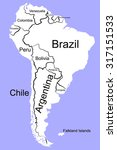 south america  detailed map | Shutterstock .eps vector #317151533