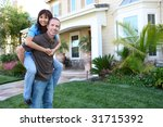an attractive happy couple in... | Shutterstock . vector #31715392