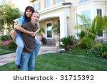 an attractive happy couple in... | Shutterstock . vector #31715392