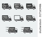 delivery icon set. next day... | Shutterstock .eps vector #317165486