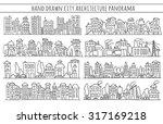 sketch big city architecture... | Shutterstock .eps vector #317169218