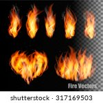 collection of fire vectors  ... | Shutterstock .eps vector #317169503