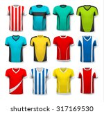 collection of various soccer... | Shutterstock .eps vector #317169530