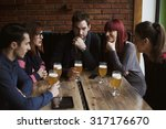group of friends socializing in ... | Shutterstock . vector #317176670