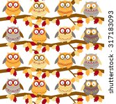 seamless pattern with different ... | Shutterstock .eps vector #317183093