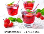 homemade strawberry compote...   Shutterstock . vector #317184158