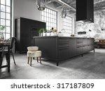 interior  beautiful kitchen of... | Shutterstock . vector #317187809