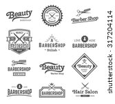vector set of retro barber... | Shutterstock .eps vector #317204114