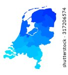 map of the netherlands | Shutterstock .eps vector #317206574