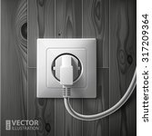 realistic electric white socket ... | Shutterstock .eps vector #317209364