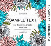 floral frame | Shutterstock .eps vector #317209748