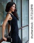 beautiful brunette woman... | Shutterstock . vector #317212898