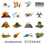 different disasters icons.... | Shutterstock .eps vector #317214164