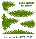 a set of christmas tree branches | Shutterstock .eps vector #317215580