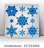 snowflakes winter set for your... | Shutterstock .eps vector #317215664