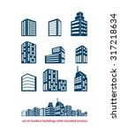 set of building and real estate ... | Shutterstock .eps vector #317218634
