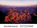sunrise at the top of mount... | Shutterstock . vector #317219360