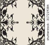 vector ornamental floral frame. ...   Shutterstock .eps vector #317219384