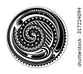 circle ethnic tattoo ornament.... | Shutterstock .eps vector #317224094
