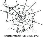 happy halloween with spider web  | Shutterstock .eps vector #317233193