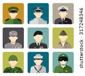 military servicemen in uniform... | Shutterstock .eps vector #317248346