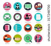 project management icons with... | Shutterstock .eps vector #317248700