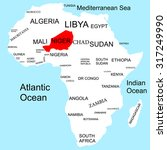 map of africa  niger | Shutterstock .eps vector #317249990