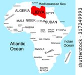 map of africa  libya | Shutterstock .eps vector #317249993
