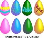 set of easter eggs   Shutterstock .eps vector #31725280