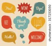 vector set of speech bubbles in ... | Shutterstock .eps vector #317253050