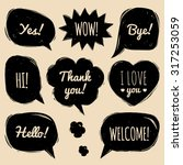 vector set of speech bubbles in ... | Shutterstock .eps vector #317253059