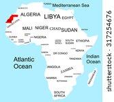 map of africa  western sahara | Shutterstock .eps vector #317254676