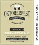 oktoberfest beer festival night ... | Shutterstock .eps vector #317257358