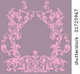 illustration with pink frame on ... | Shutterstock .eps vector #31725967