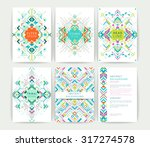 set of geometric abstract... | Shutterstock .eps vector #317274578