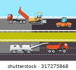 heavy machinery involved in the ... | Shutterstock .eps vector #317275868
