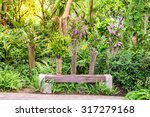 wooden bench among the...   Shutterstock . vector #317279168