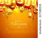 halloween background with... | Shutterstock .eps vector #317280233