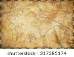 old nautical treasure map... | Shutterstock . vector #317285174