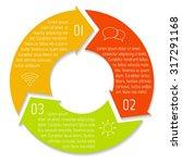 vector round infographic... | Shutterstock .eps vector #317291168