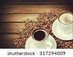 coffee shop. | Shutterstock . vector #317294009