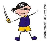 Carnival Pirate  Vector Icon