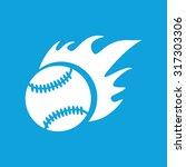hot baseball icon