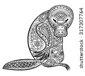 Zentangle Stylized Platypus...