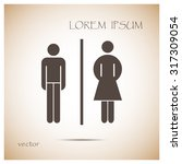vector man and woman icons ... | Shutterstock .eps vector #317309054