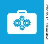 tool bag icon  simple white...